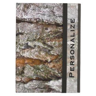 Textura real de la corteza de árbol con nombre per
