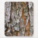 Textura real de la corteza de árbol alfombrilla de ratón