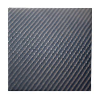 Textura real de la foto de la fibra de carbono azulejo cuadrado pequeño