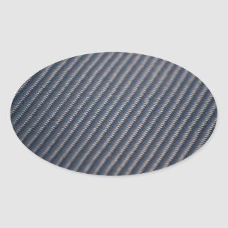 Textura real de la foto de la fibra de carbono pegatina ovalada