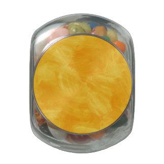 Textura retra amarilla de la pintura de la jarras de cristal jelly bely