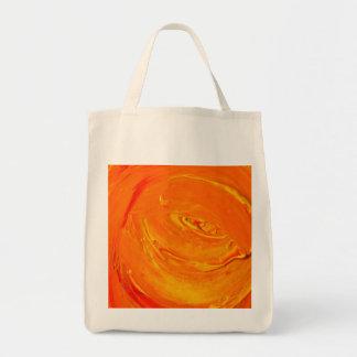 Textura retra anaranjada de la pintura bolsa tela para la compra