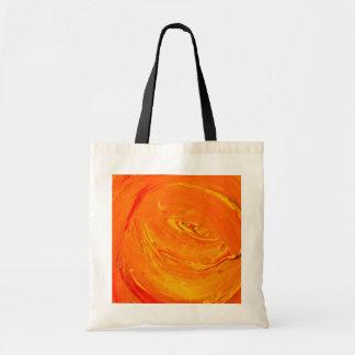 Textura retra anaranjada de la pintura bolsa tela barata