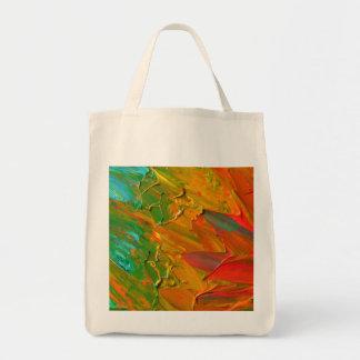 Textura retra de la pintura bolsa tela para la compra