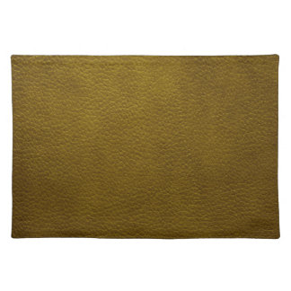 Textura retra del cuero del Grunge del verde verde Mantel Individual