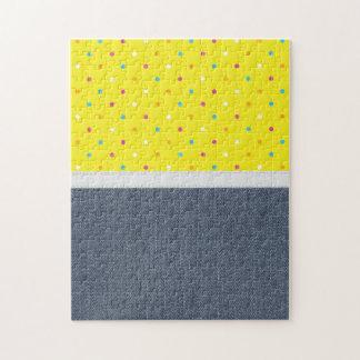 Textura retra del dril de algodón puzzles con fotos