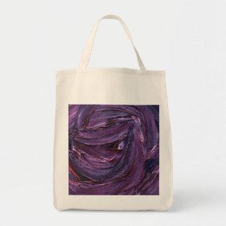 Textura retra púrpura de la pintura bolsa tela para la compra