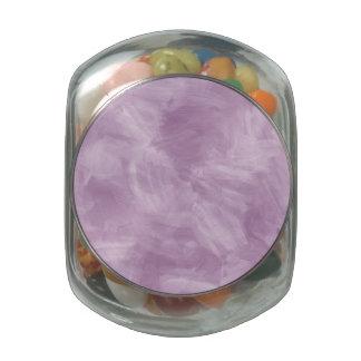Textura retra púrpura de la pintura de la acuarela frascos de cristal