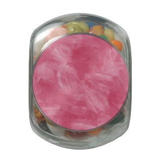 Textura retra rosada de la acuarela jarrones cristal