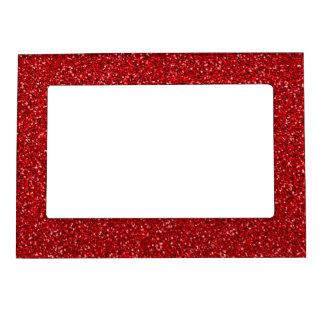 Textura roja colorida del brillo del aniversario foto de imanes