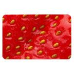 Textura roja de la fresa imanes flexibles