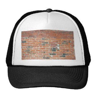 Textura roja de la pared de ladrillo del vintage gorras de camionero