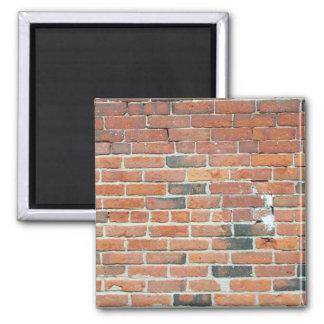Textura roja de la pared de ladrillo del vintage imán de frigorifico