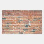 Textura roja de la pared de ladrillo del vintage rectangular altavoz