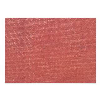 """Textura roja de la pared de ladrillo invitación 5"""" x 7"""""""