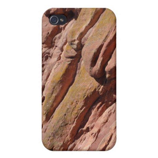Textura roja de la roca iPhone 4 fundas