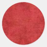 Textura roja de la tela de felpilla del navidad etiquetas redondas