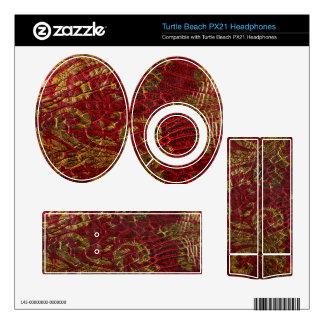 Textura roja del cuero del oro del Grunge
