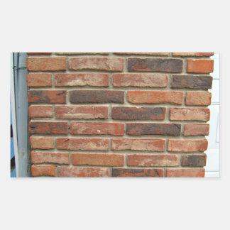 Textura roja envejecida de la pared de ladrillo rectangular pegatinas