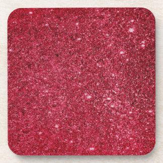 Textura roja fabulosa del brillo posavasos de bebidas