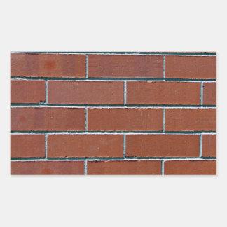 Textura roja inconsútil de la pared de ladrillo rectangular pegatina