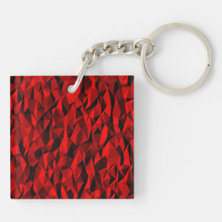 textura roja llavero cuadrado acrílico a doble cara