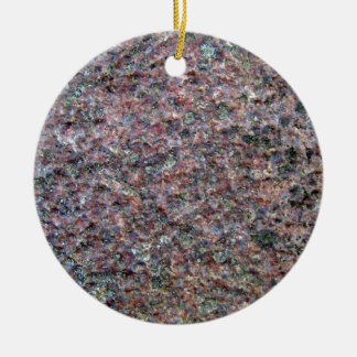 Textura roja y negra del assoretd del granito ornamento para arbol de navidad