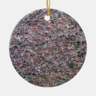Textura roja y negra del granito adornos de navidad