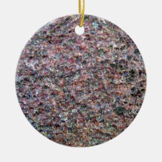 Textura roja y negra del granito ornaments para arbol de navidad