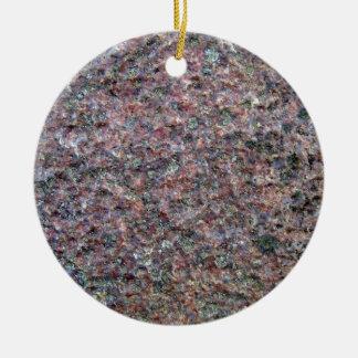 Textura roja y negra del granito ornamentos de navidad