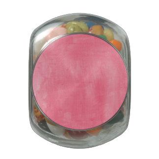 Textura rosada de la acuarela jarras de cristal