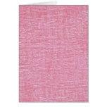 Textura rosada de la tela de felpilla felicitaciones