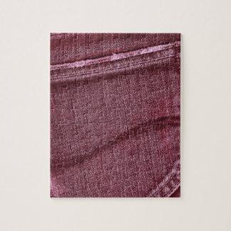 Textura rosada retra del dril de algodón puzzle con fotos
