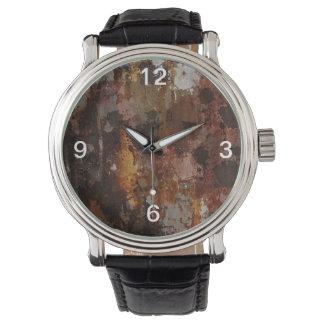 textura rustica reloj