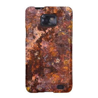 Textura rústica vibrante del hierro de Brown Samsung Galaxy SII Carcasas