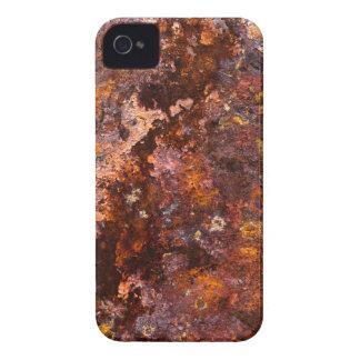 Textura rústica vibrante del hierro de Brown iPhone 4 Funda