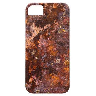 Textura rústica vibrante del hierro de Brown iPhone 5 Carcasas
