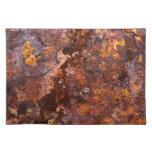 Textura rústica vibrante del hierro de Brown Manteles Individuales