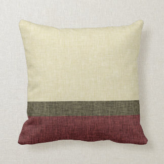 Textura simple Borgoña verde de color caqui de la Cojin