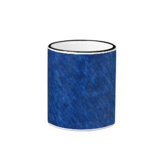 Textura sucia áspera del terciopelo: Azul real Taza De Dos Colores