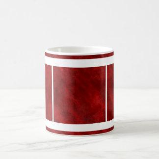 Textura sucia áspera del terciopelo: Rojo sangre Taza Clásica