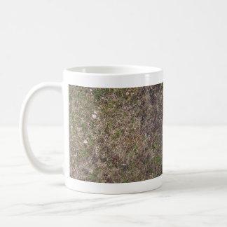 Textura sucia de la hierba seca de Brown Taza De Café