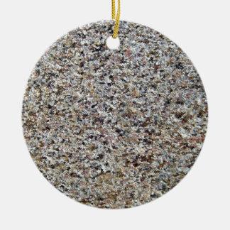 Textura superficial rocosa clasificada adorno redondo de cerámica