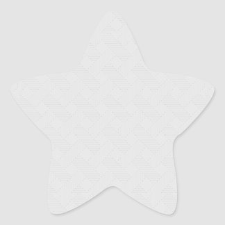 Textura tejida portilla cruzada sutil pegatina en forma de estrella