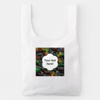 Textura tragada bolsa reutilizable