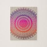 Textura tribal del vector inconsútil puzzle con fotos