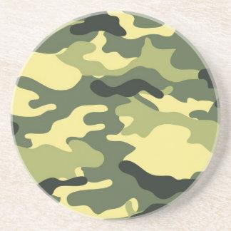 Textura verde de Camo del camuflaje Posavasos Personalizados