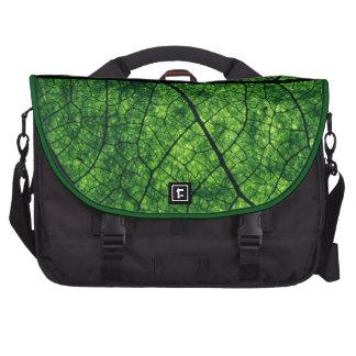textura verde de la hoja bolsas de portatil