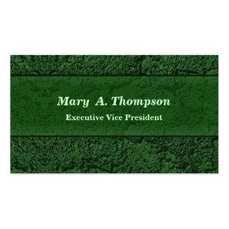 Textura verde oscuro del estuco plantilla de tarjeta de negocio