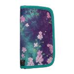 Textura verde púrpura del batik planificadores
